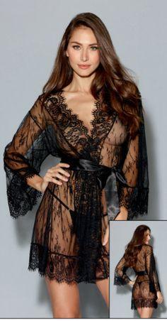 Roemdia Womens Lace Kimono Robe Nightwear Silk Nightgown Sleepwear Satin Robe White
