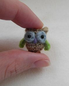 Oh so tiny! Crochet Owl by Justyna Kacprzak