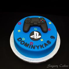 Personalised sugarpaste playstation 4 controller joystick Xbox cake toppers cake decorating birthday cakes - Playstation - Ideas of Playstation - - Personalizadas fondant playstation 4 controlador joystick Bolo Xbox, Mini Cakes, Cupcake Cakes, Playstation Cake, Xbox Cake, Video Game Cakes, Sugar Cake, Cakes For Boys, Teen Cakes