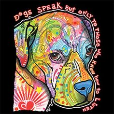 Dogs Speak Shirt Choose Womens Short Sleeve Long Sleeve or Tank Top 21276HD2