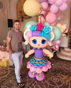 Ballon Decorations, Birthday Party Decorations, Party Themes, Balloon Modelling, Bubble Balloons, Animal Hats, Balloon Animals, Balloon Bouquet, Lol Dolls