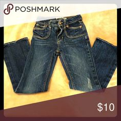 Slim jeans by Levi's Great distressed jeans for any little girl!!! Adjustable and gently used!! Levi's Bottoms Jeans