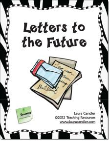 "Free writing printables including this ""letters to the future"" idea!"