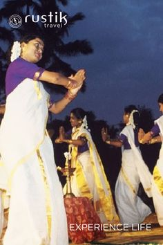 Discover #Kerala's rich and varied culture through its traditional folk dances performed during the festival of Onam. Most mesmerizing of them all is Kaikottikali or Thiruvathirakali, an elegant and harmonious dance form, performed by maidens in ethnic attires, dancing on the beat of their own clapping and singing to attain everlasting marital bliss. Details: http://www.rustiktravel.com/Experiences/celebrating-onam/