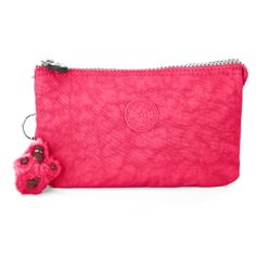 Creativity Large Pouch in Vibrant Pink    I am loving the color and style of this pouch, bright colors remind me of tropical island paradises full of sunshine! #Kipling #KiplingSweeps