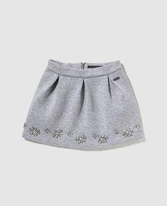 Falda de niña Pepe Jeans en gris con abalorios Vestidos Para Chicas 769ed62667bb