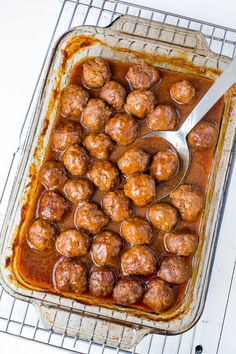 Ditch that grape jelly cocktail meatball recipe. And spoil your guests with these beer BBQ meatballs instead! Juicy tender meatballs in smoky, rich and slightly sweet beer bbq sauce. The BEST!