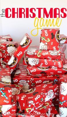 The Christmas Game - the BEST Christmas tradition ever! Perfect for a family on Christmas eve or for any holiday party!