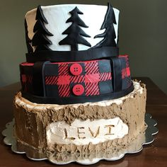 This is definitely in the top five for all time favorites cakes I've made. A lumberjack cake? I mean, what a super cute idea! Plaid is a technique I can see myself using again, now that I've figure…