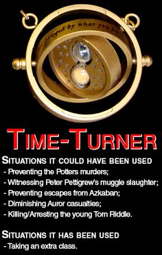 I wish I'd had this Time Turner because I want to dial back to last night, before I got the traffic ticket.