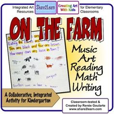 This collaborative Kindergarten math word problem activity is perfect for a farm unit. It integrates Music, Reading, Art, Math, Writing, and Social Studies by using shared reading, shared writing, and other shared strategies.This lesson is a great way to introduce story problems to young children.