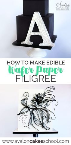 Edible quilling! Learn all the ins and outs of Wafer Paper quilling in this wafer paper filigree step by step tutorials with Avalon Cakes School of Sugar Art. www.avaloncakesschool.com Cake decorating tutorials online! Flowers, letters and more! #ediblewaferpaper #filigree #cakedecorating