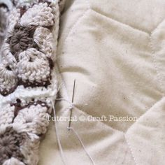 align and sew motif to lining