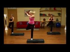 SPICY STEP - STEP AEROBICS - 1 hour video on youtube by Jenny Ford