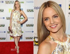 Mena Suvari In Versace Collection.