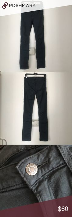 Helmut Lang Skinny Jeans Helmut Lang skinny jeans. Size 27. Color: dark teal, super comfy with stretch. Has cool knee detail. Great condition. No rips or stains. Great for the fall! Helmut Lang Jeans Skinny