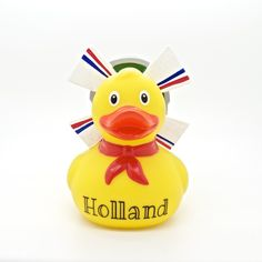 Holland Rubber Duck. Buy the Dutch miller duck of the Amsterdam Duck Store. With typical Dutch windmill and flags. Meet all the cutest rubber ducks of Amsterdam. Read more...