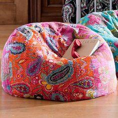 Kantha Cloth Beanbags