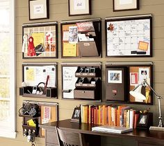 "Visual Organization: That's my style of organizing, so I'm attracted to these wall-mounted ""command centers."""