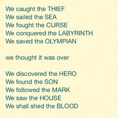 Heroes of Olympus and Percy Jackson and the Olympians