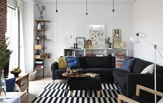 IKEA interior designer Libertad lives with her partner Rober in their space-smart, sociable home in Madrid My Living Room, Living Spaces, Open Plan Apartment, Cozy Apartment, Ikea Interior, Cabinet D Architecture, Scandinavian Interior Design, Open Plan Living, Home Furnishings