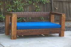 Reclaimed Wood Outdoor Love Seat / Chair by DKreclaimedwoodwork