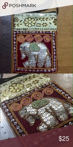 Thai Handmade Sequined Elephant Messenger Bag Cute handmade sequined elephant messenger bag. Bags