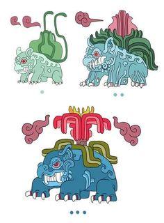 Bulbasaur / Ivysaur / Venusaur   18 Pokemon Reimagined As Mayan Gods