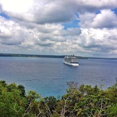 I'm dreaming of water and the cruising life this #throwbackthursday. This is a pic of the Celebrity Solstice anchored while we were in Lifou Loyalty Islands. Lifou is the largest and most populous island in the Loyalty Islands and in the archipelago of New Caledonia. Talk about amazing blue water and the view! I need a cruise and soon. I've been on land far too long.  #cruise #tbt #cruiseship #cruising #celebritycruises #lifou #loyaltyislands #newcaledonia #southpacific by travelshopgirl