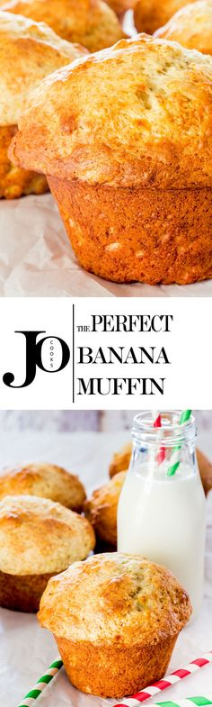 The perfect banana muffins - learn the secret to making these bakery style jumbo muffins, dairy free and low fat with the perfect muffin dome.
