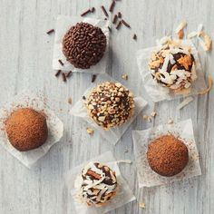 These treats make for tasty gifts and are a great way to add variety to your dessert table. Find a delicious holiday treat with our best Christmas recipes. Christmas Truffles, Christmas Food Treats, Best Christmas Recipes, Easy Holiday Recipes, Holiday Desserts, Christmas Foods, Valentine Recipes, Holiday Baking, Holiday Treats