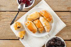 Sweet rolls with prunes. Flat lay by Mellisandra on @creativemarket