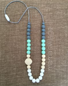 Fashionable Teething / Nursing Necklace