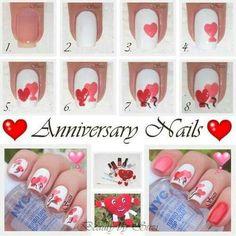 Nails saint valentin