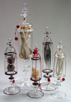 Andy Paiko glass reliquaries. Available only at Paxton Gate, Portland OR (Andy Paiko website)