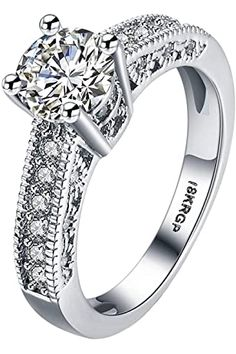 Buy Karatcart Valentine's Day Gift Hamper of Couple Ring with Red Rose Gift Box for Boyfriend/Girlfriend/Gift at Amazon.in Wedding Rings For Women, Wedding Ring Bands, Swarovski Ring, Vintage Rings, Diamond Jewelry, Silver Jewellery, Diamond Rings, Silver Ring, Ring Designs