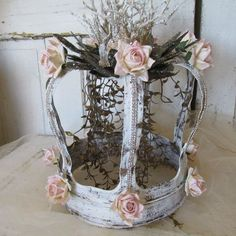 Huge metal French crown handmade ornate home by AnitaSperoDesign