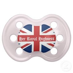 Her Royal Highness Pink British Flag Baby Pacifier  http://www.zazzle.com/LaBebba22?rf=238705799563917843