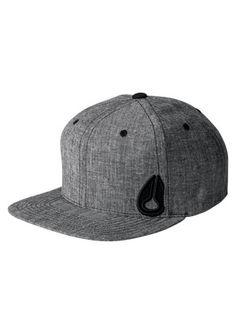 194f30ffcd Nixon Cappellino Starter Utility in Black Wash Wearing A Hat