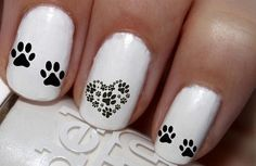 50 pc I Love My Dog Dogs Paw Print Prints Dog Bone Nail Decals Nail Art Nail Stickers Best Price NC701