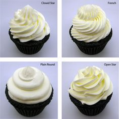This blog shows different ways to ice your cupcake.