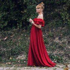 Sukienka Inez Sukienka długa,  sukienka czerwona, sukienka hiszpanka, sukienka wizytowa, ootd,  moda, moda dla kobiet, stylizacja