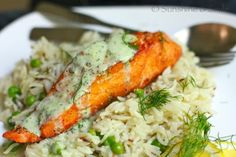 salmon with dill sauce plus awesome site with tons of ideas
