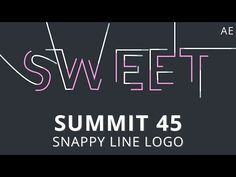 Summit 45 - Snappy Line Logo Today's Summit jumps into a fun and modern text or logo animation. Learn how to use Trim Paths, the Search Bar and basic motion ...
