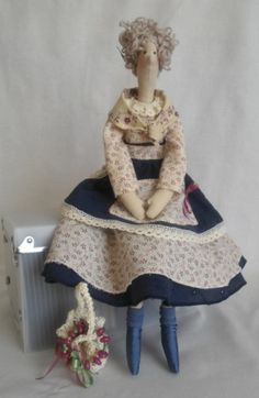 """Кукла ручной работы """"Черника"""" в стиле тильда. BlueberryTilda doll"""