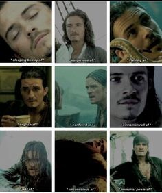 Will Turner af Disney Movies, Disney Pixar, Will And Elizabeth, Orlando Bloom Legolas, Actors Funny, Captain Jack Sparrow, Pirate Life, Will Turner, Pirates Of The Caribbean