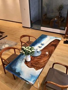 Πώς θα κάνω το σπίτι να φαίνεται πιο ακριβό Diy Resin Wood Table, Epoxy Resin Table, Tea Table Design, Resin Furniture, Küchen Design, Diy Wood Projects, Architecture, Kitchen, Ideas