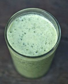 This coconut milk smoothie is ONLY three ingredients!! Coconut milk, banana and spinach. Packed with healthy nutrients, super filling, AND delicious at only 134 calories.