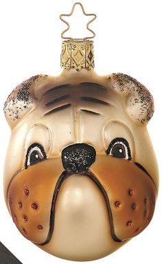 Inge Glas 2006 #Christbaumschmuck#Hund#aus dem Hause Inge Glas.Weihnachtsbaumschmuck made in Germany mundgeblasen und von Hand bemalt bei www.gartenschaetz...