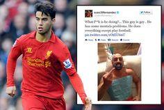 """Suso, jugador del Liverpool, multado con 12.000 euros por llamar """"gay"""" a un compañero de equipo. http://blog.friendlymap.com.uy/?p=5786"""